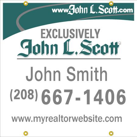 JOHN L SCOTT 24X24 YARD SIGN
