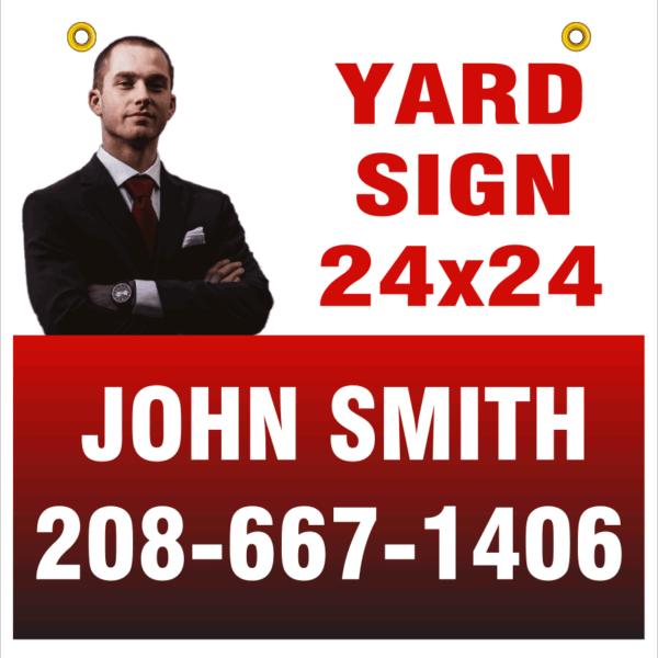 24x24 yd sign