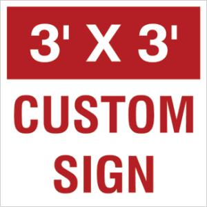 36x36 custom yard