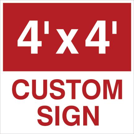 48x48 custom yard sign