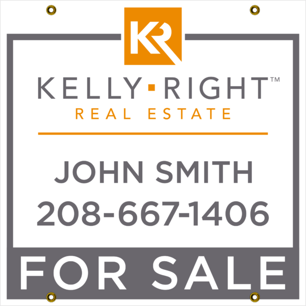 KELLEY RIGHT GRAY FOR SALE 24X24 YARD SIGN