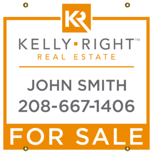 KELLEY RIGHT ORANGE FOR SALE 24X24 YARD SIGN