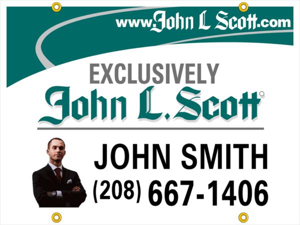 john l scott 18x24 PHOTO yard sign