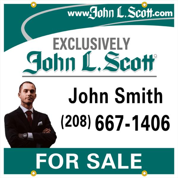 john l scott 24x24 PHOTO yard sign