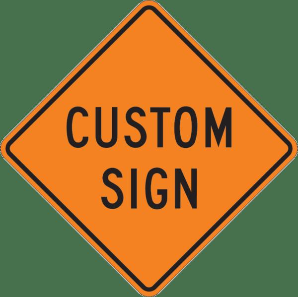24x24 custom sign warning sign