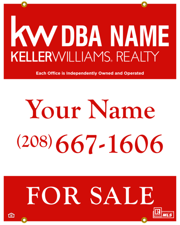 keller williams 30X24 YARD SIGN SPOKANE POST FALLS CDA COEUR D'ALENE