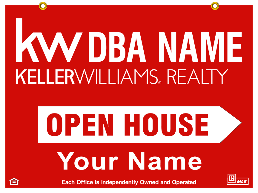 keller williams STOCK open house 18x24 SPOKANE POST FALLS COEUR D'ALENE